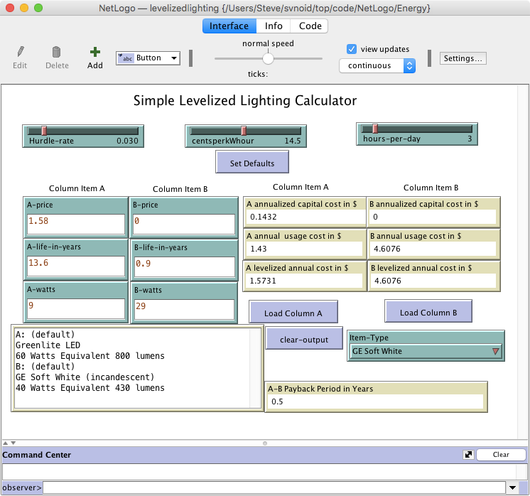 Simple Leveled Lighting Calculator preview image